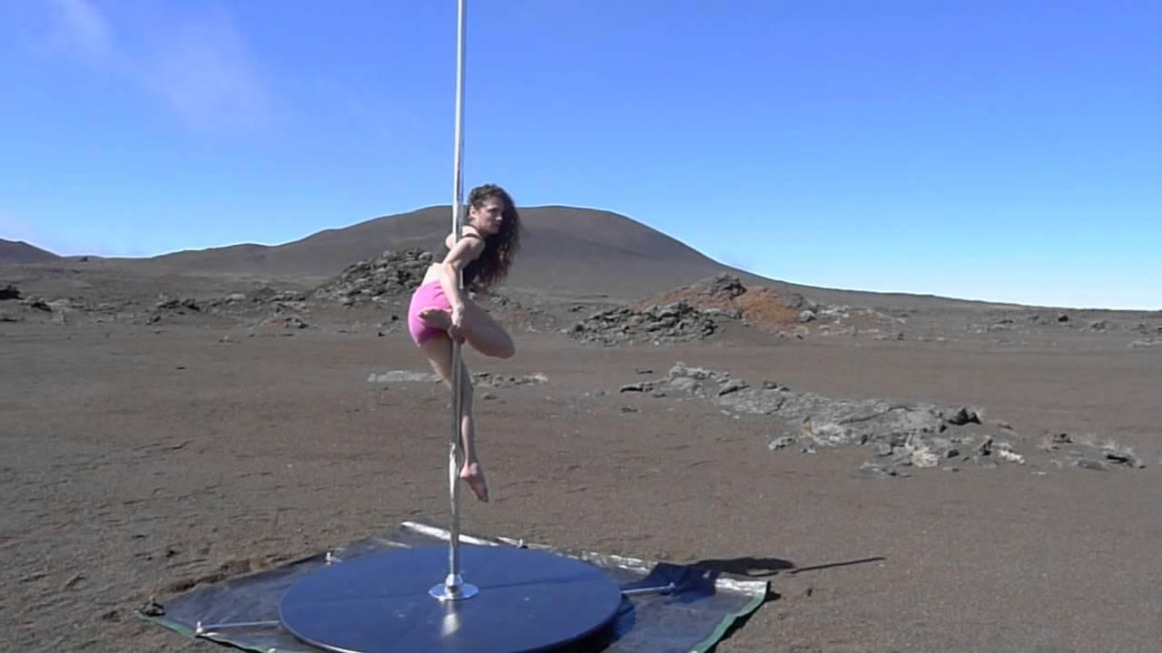 Pole danse au volcan de la Réunion