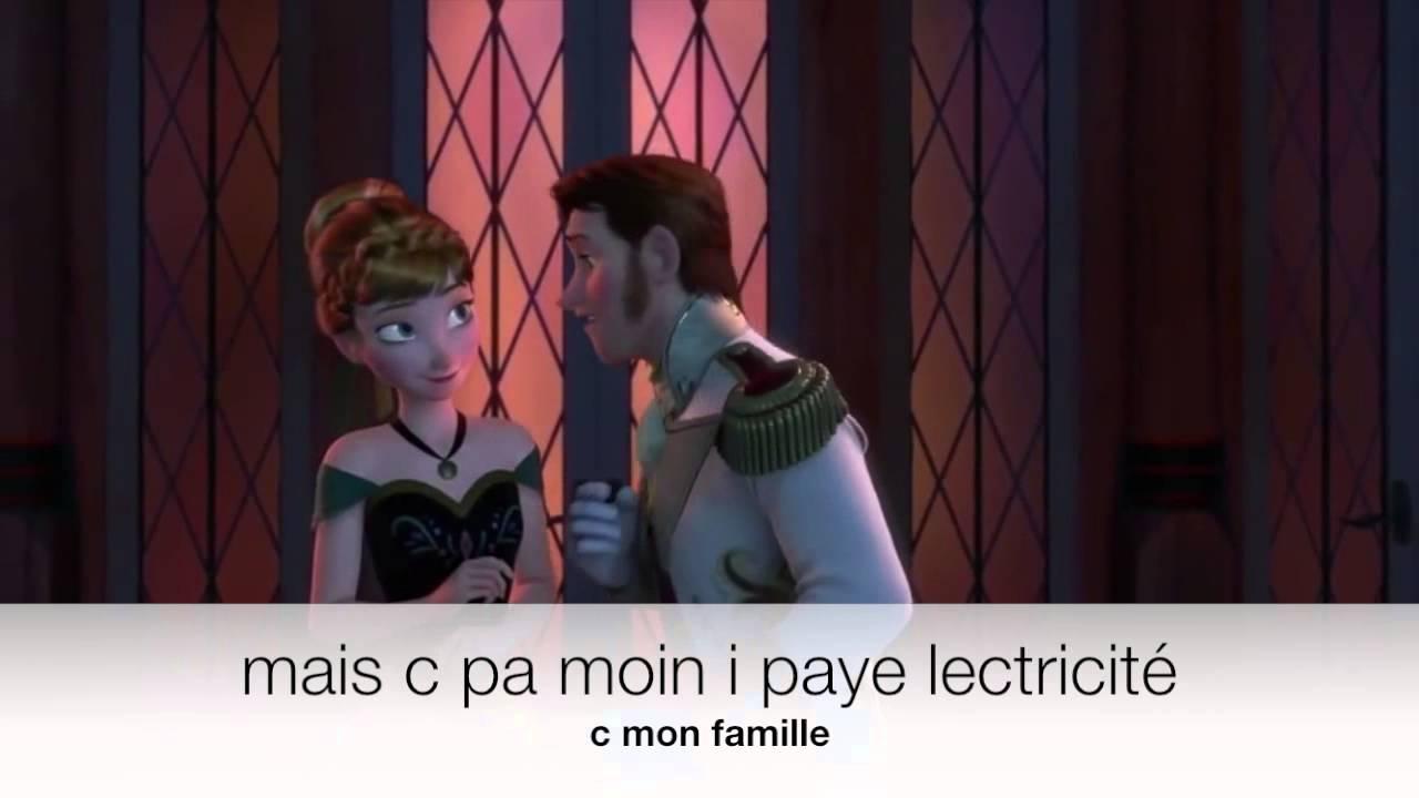 «Papa momon léla» ou la parodie de «l'amour est un cadeau» (reine des neiges)