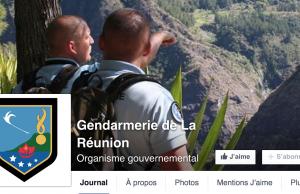 page facebook de la gendarmerie de la réunion