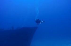 Plongée sur l'épave de l'Haï Siang à Saint Gilles à la Réunion