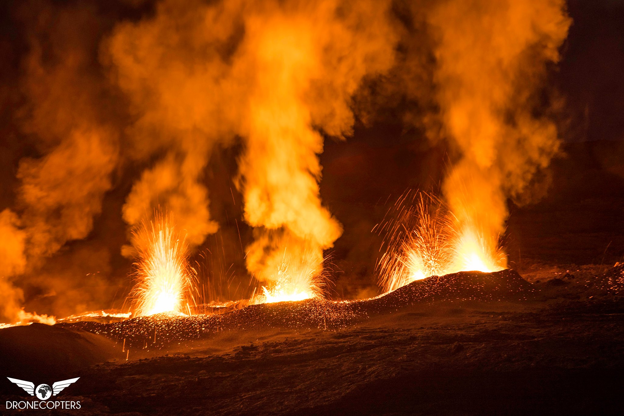 Eruption du piton de la fournaise : les images – Éruption Juillet Aout 2015