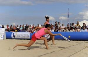 JUMELLES hoarau 4 em fois championnes de france de Beach Tennis