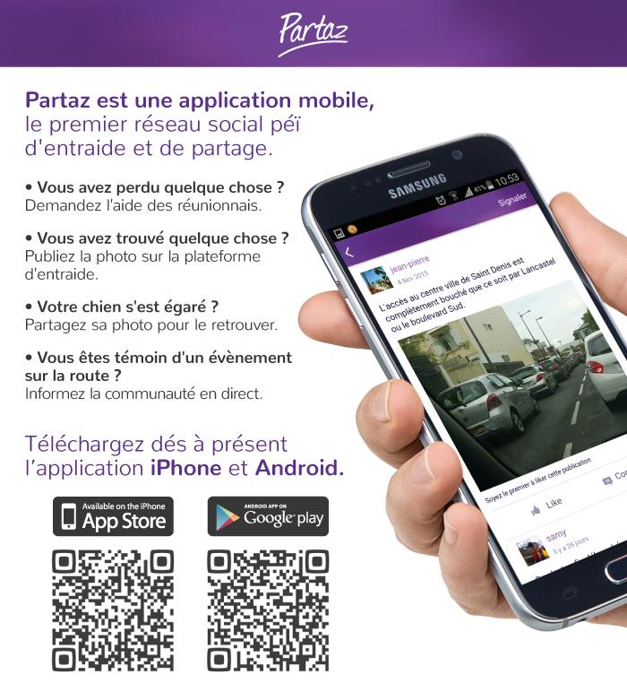 partaz flyer a5 verso 700px Partaz, lapplication péï dentraide et de partage