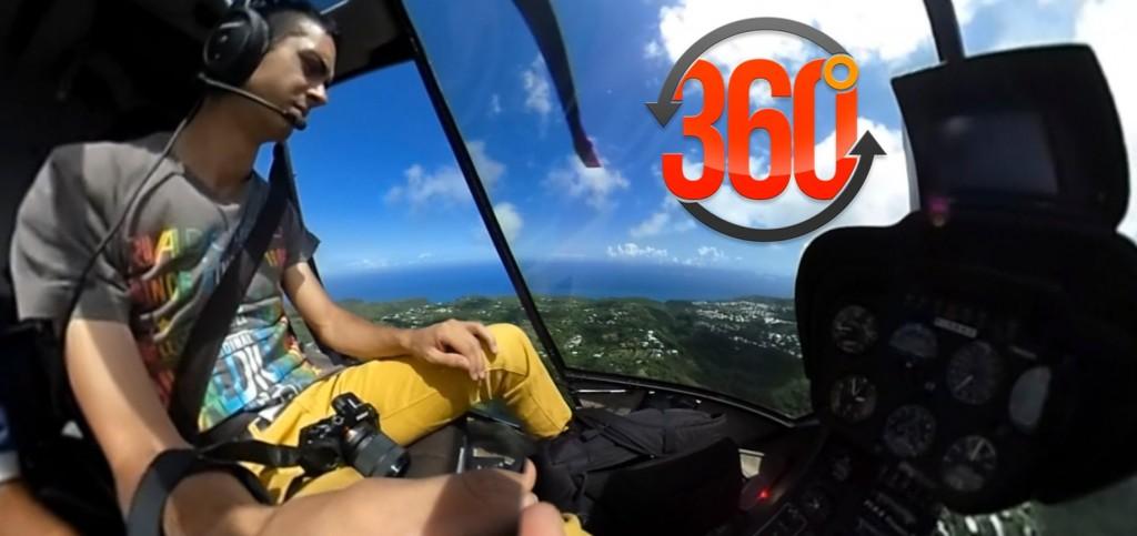 Vidéo 360° : Embarquez en Hélicoptère au dessus de la Réunion