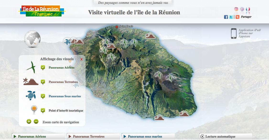 visite de la Réunion à 360°