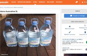 bouteille d'eau a vendre sur le bon coin